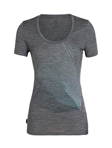 Icebreaker Damen WMNS Tech Lite SS Scoop Plume T-Shirt, Gritstone Hthr, M