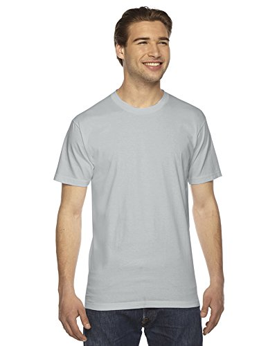 American Apparel Fine Jersey Short Sleeve T-Shirt New Silver