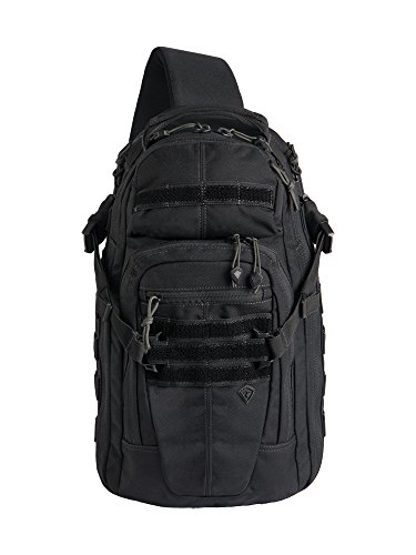 First Tactical Crosshatch Sling Bag Schwarz, Schwarz (Heavy-duty 3-wege)