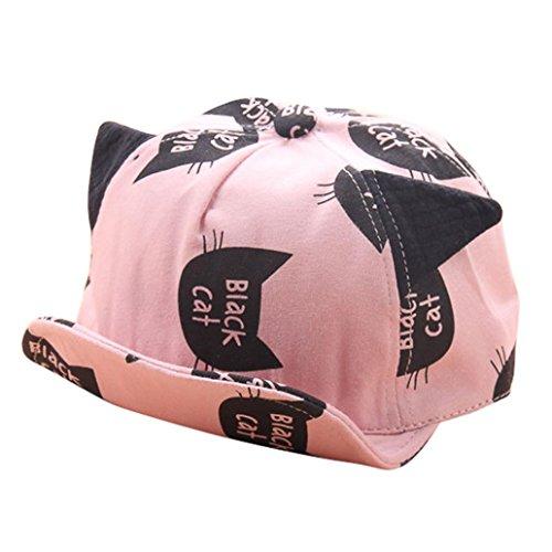 Babybekleidung Hüte & Mützen Longra Baby Mütze für jungen Mädchen schwarze Katze Hut Kinder Frühjahr-Sommer Hüte (3-24Monate) (Kostüm Beanie Baby Katze)