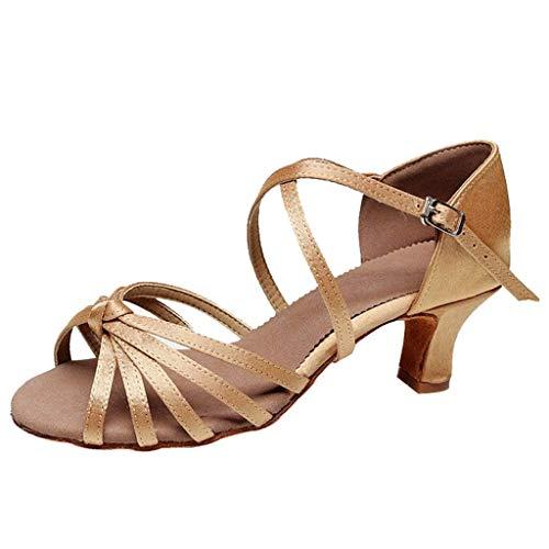 Zapatos de Latino Baile Tacón Bajo para Mujer Zapatos de Baile Estándar de Zapatos de Baile Latino...