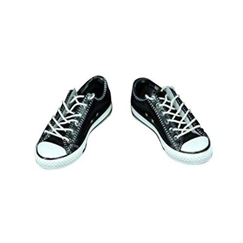 SM SunniMix 1/6 Skala Turnschuhe Segeltuchschuhe Schuhe Bekleidung für 12 Zoll Actionfigur - Schwarz