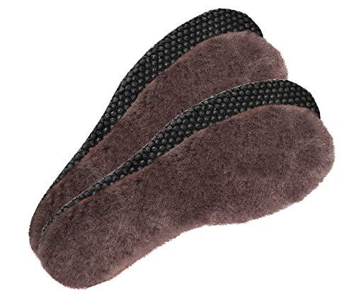 ESTRO Set of 2 or 4 Pairs of Genuine Sheep Wool Insoles Warm Thermal Inner Anti-Skidding Soles EU Wool ein