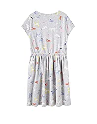 Joules Jersey Dress - Frey MARL Dotty Dogs from Joules