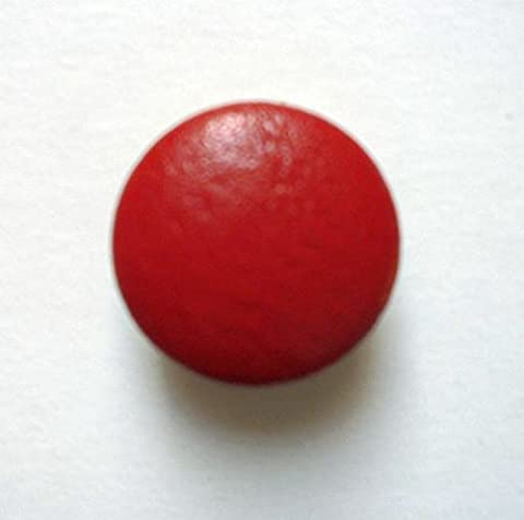 Leather Button Leather Buttons 38mm Red Real Leather Covered