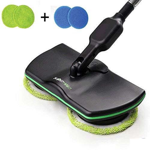 Elektrischer spinnender Mopp Wieder aufladbar, Haushalts Reinigungs Mopp Drahtloser, angetriebener Wäscher Poliermittel Mopp, Handdrehungs Maid Boden Reiniger Teppich Fliesen Kehrmaschine für -