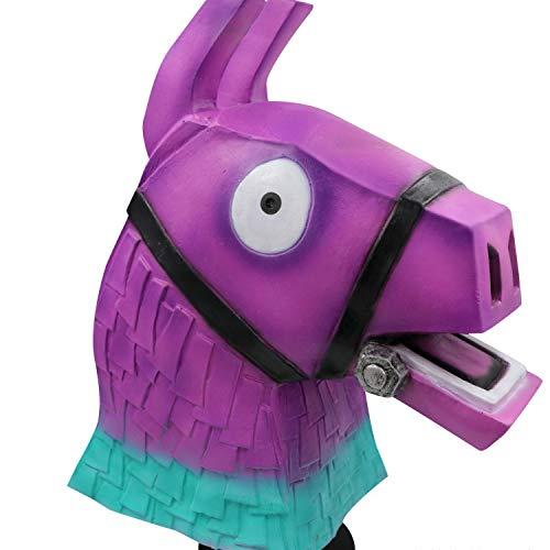 Humor Mask Masquerade, Prom Maske Cosplay Dress Up Farbe Pferdekopf Maske Cos Spiel Peripherie Requisiten Halloween Latex Kopfbedeckungen,Purple-OneSize