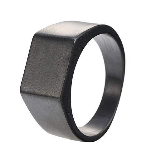 YABENI Frauen der Männer Finger gut Poliert Minimalist Edelstahl Einfacher Ring 3 Farben