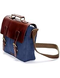 Swadesia Canvas Vegan Leather Hand Messenger Cross Body Bag