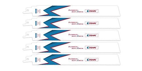 EZARC Hojas de sierra sable R926PM+ Heavy Metal para Cortes rectos precisos en metal 14TPI 225mm (pack de 5)