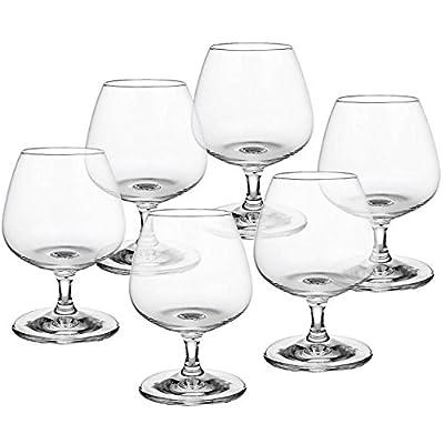 Cristalica Napoli Cognacschwenker Geeignet Fr Spirituosen Whiskey Weinbrand Glas 6 Stck Im Modernen Style Transparent Made In Germany
