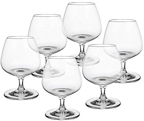 CRISTALICA Napoli Cognacschwenker geeignet für Spirituosen Whiskey Weinbrand Glas 6 Stück im...