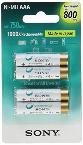Sony nhaaab4K wiederaufladbarer Akku–wiederaufladbar Batterien (Nickel-Metallhydrid-(NiMH), AAA) - Triple Nickel