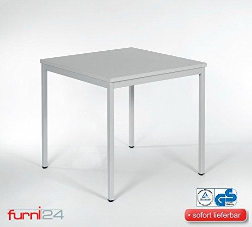 Beistelltisch Bürotsich Esstisch Konferenztisch Mehrzwecktisch Besuchertisch PC Tisch Schreibtisch Kantinentisch Schülertisch Universaltisch 80 cm x 80 cm x 75 cm grau verschiedene Ausfühungen simple Montage