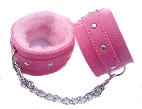 Lalang® Sexy Spielzeug Plüsch-Handschellen PU-Leder-Handschellen Bondage Spielzeug