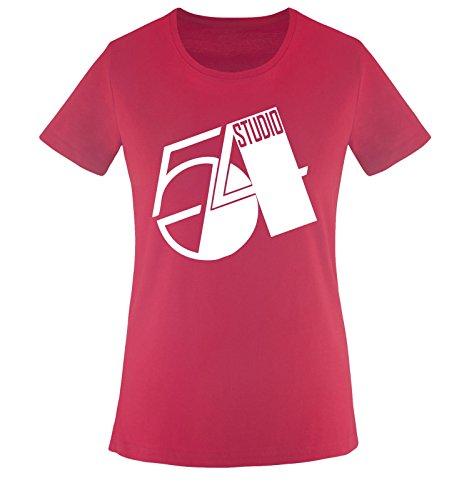 STUDIO 54 - Damen Frauen T-Shirt Gr. XS bis XXL Diverse Farben Sorbet / Weiss
