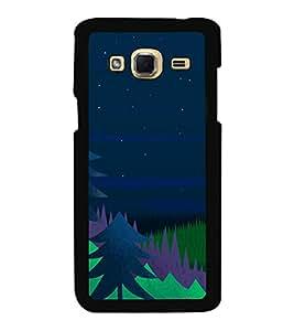 Printvisa Ultra Night 2D Hard Polycarbonate Designer Back Case Cover for Samsung Galaxy J3 (2...