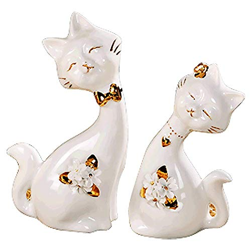 Cute cat couple decoration cute couple cute cat casa creativa decorazioni artigianali in ceramica ornamenti di animali artigianato camera da letto di moda