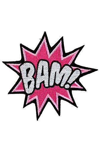 ügler BAM POW Aufnäher Textblase Sprechblase Patch Applikation Kostüm Bügelbild: BAM! ()