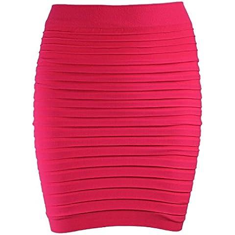 New Mini elástico de alta Bodycon la cintura para costura para blusas de mujer Panel faldas de tamaño único tubo (funda de