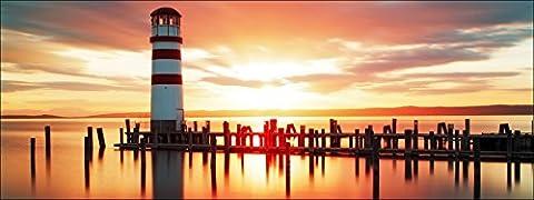 Pro-Art-Bilderpalette de photos Palette gla1302o Lonely Lighthouse type de verre, multicolore, 50x 125x 1,4cm