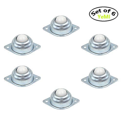 Ball-Transferrollen, 2,5 cm, Flansch montiert, Rolle für Förderer, Gehrungssäge, Möbelrollen (Set von 6,66 kg pro Stück) - 16mm nylon ball (Ball Rollen)