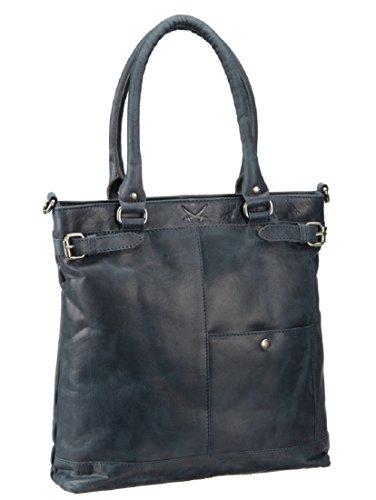 Sansibar Damen Shopper Bag Henkeltasche, 7x35x33 cm jeansblau