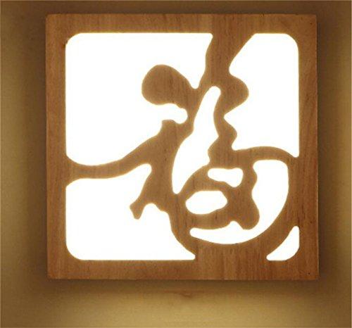 Madaye LED soffitto legno massello creatività personalità comodino corridoio corridoio luce 9*19.5cm 12W