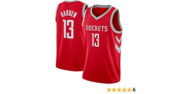 Rockets Maillot De Basketball SansFin James Harden Swag Sportswear,Personnages Chinois Nouveau Tissu Brod/é City Edition