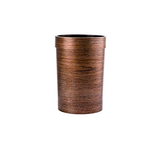 Kunststoff-Mülleimer ohne Deckel, Wohnzimmer Schlafzimmer große Mülleimer in Holz Textur, Küche Badezimmer Studie Büro kreative Mülleimer (Color : A) (Holz-küche-mülleimer)