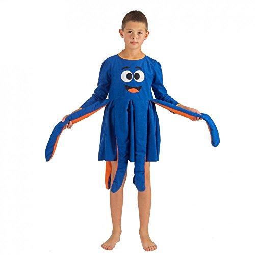 blau Qualle Octopus Fasching Tiere Meerestiere (128) (Quallen-kostüm)