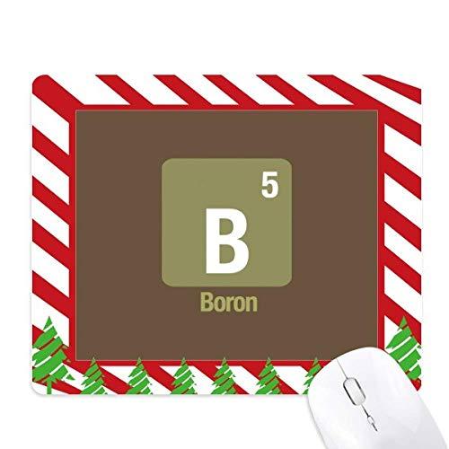 B Boron Chemical Element Science Mauspad Candy Cane Gummimatte Weihnachten