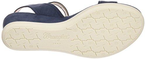 Wrangler - Iris Stripes, Sandali Donna Blu (Blau (16  Navy))