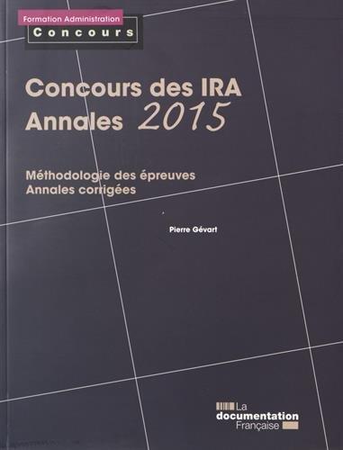 Concours des IRA - Annales 2015 - Mthodologie des preuves - Annales corriges