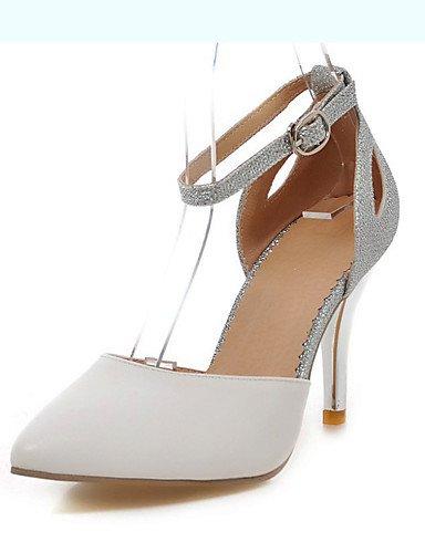 WSS 2016 Chaussures Femme-Mariage / Habillé-Bleu / Rose / Blanc-Talon Aiguille-Talons / Bout Pointu-Talons-Cuir Verni / Paillette blue-us8 / eu39 / uk6 / cn39