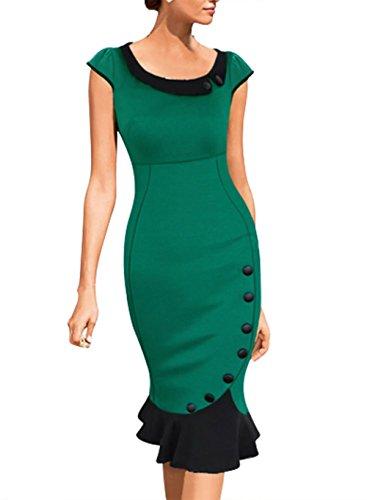 merope-j-de-la-mujer-scoop-cuello-contraste-vintage-de-dama-vestido-de-coctel