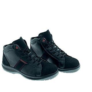 Aboutblu 1928806LA S3 SRC DGUV 112-191, Detroit Mid, Water Repellent Safety Shoe, Unisex, Black, Leather, Size 9