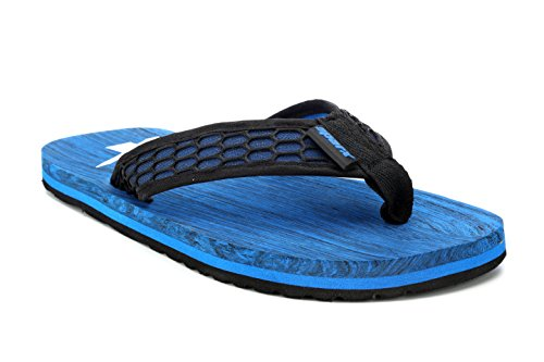 Sparx Men's Black Royal Blue Canvas Hawaii House Slippers (SF0542G)-8 UK  available at amazon for Rs.371