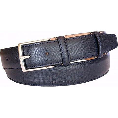 Cintura in pelle stampa saffiano 35