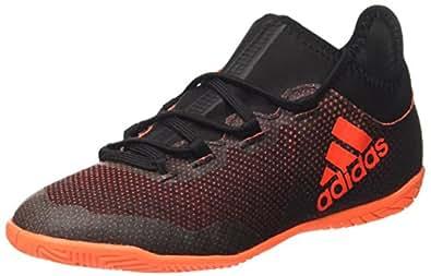 adidas X Tango 17.3 in J, Unisex-Kinder Futsalschuhe, Mehrfarbig (Core Black/Solar Red/Solar Orange), 28