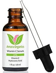 Sérum Vitamine C Visage 20 % avec de l'Acide Hyaluronique & de la Vitamine E - 30 ml