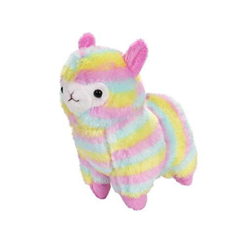 Gusspower Plüsch Alpaka, Rainbow Kawaii weich gefüllte Stofftiere Alpaka Kissen Puppe, Beste Geburtstagsgeschenke für die Kinder (18CM)