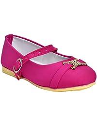 Leatherwood1 Girls Pink Slip on Ballerinas