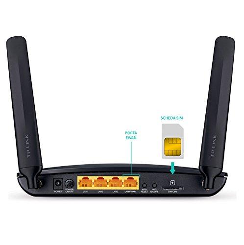 TP-Link Archer MR200 Routeur LTE 4G Wi-Fi AC 750 Mbps (150 Mbps en TéléChargement, Wi-Fi 300 Mbps en 2,4 GHz et 433 Mbps en 5 GHz)