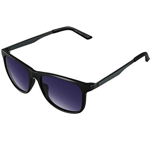 DUCO Herren oder Damen Polarisierte Square Sonnenbrille mit Verlaufsglas für Radfahren Fahren 3030 (Schwarz)