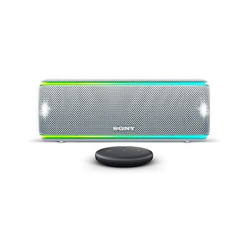 Amazon Echo Input, Nero + Altoparlante Portatile Bluetooth Sony SRS-XB31, Bianco