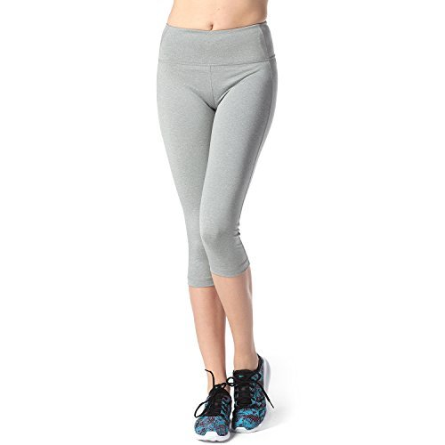 Lapasa-Donna-Capri-Leggings-34-Allenamento-Opaco-Yoga-Fitness-Spandex-Palestra-Pantaloni-SGrigio-Chiaro