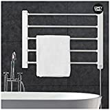 Thermic Dynamics Comfy Towel Toallero Eléctrico de Pared, Metal, Blanco, 60 x 43 cm