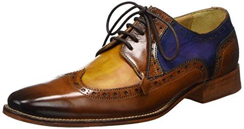 Melvin & Hamilton Oskar 29, Scarpe String Derby Uomo Multicolore (croûte / Beige / Lavage Jaune / Bleu / Ls-noir)