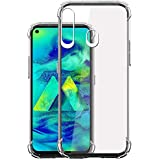Jkobi Silicon Flexible Shockproof Corner TPU Back Case Cover For Samsung Galaxy M40 -Transparent